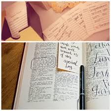 Scriptures, have them find their favorite scripture and sign next to it.