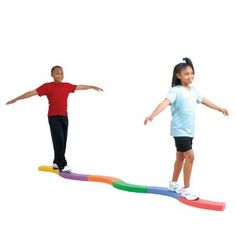 How fun is this?! A 12-foot foam balance beam that can be configured into 15 different balance challenges!