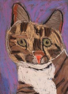 Cat in pastels