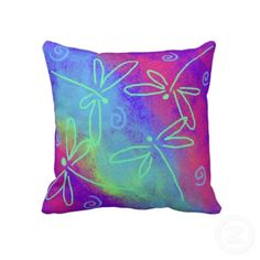 Funky abstract dragonfly pillow.  $59.95