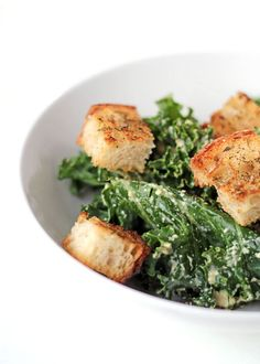 For a refreshing crunch, try this yummy and healthy kale caesar salad.