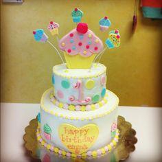 Cupcake themed cake