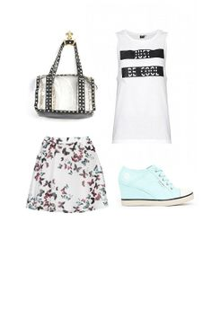 SNEAKERS PARA DAR EL TOQUE: falda Cayro, camiseta Only, sneakers Diesel Footwear y bolso Chalada