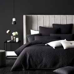 Best Bedding Sets For Couples Bedroom Setup, Master Bedroom Design, Bedroom Colors, Dream Bedroom, Modern Bedroom, Bedroom Decor, Bedding Inspiration, Home Decor Inspiration, Charcoal Bedroom