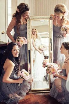 A Different shot of the bride and her bridesmaids