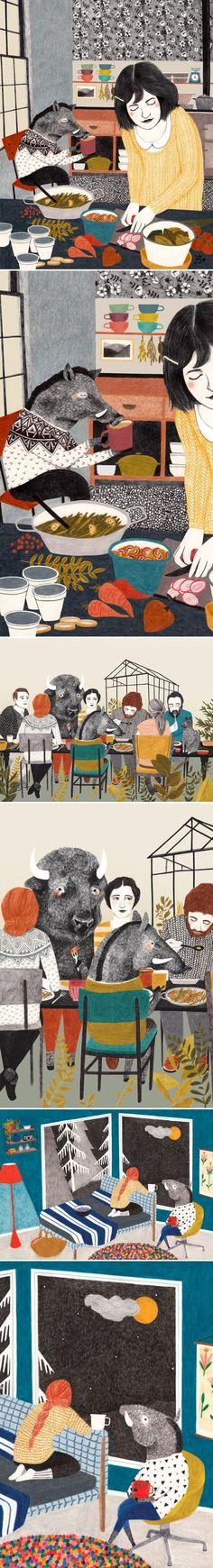 Art Inspiration: Whimsical Illustrations By Lieke van der Vorst.