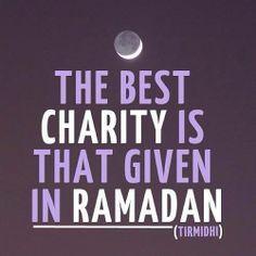 Die beste Wohltat, die man geben kann, ist die Wohltat im Ramadan.