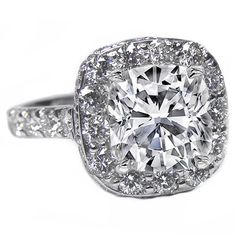 Engagement Ring - Cathedral Filigree Cushion Cut Diamond Heirloom Engagement Ring, 1.28 tcw. - ES360