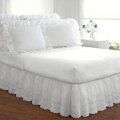 Fresh Ideas Lauren Heirloom Ruffled Eyelet 14-inch Bedskirt