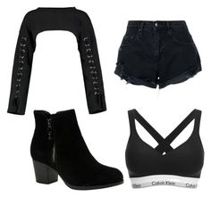 """""""Basic"""" by jashlee-1 on Polyvore featuring Nobody Denim, Calvin Klein, Boohoo and Skechers"""