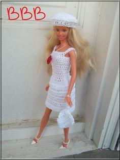 Barbie Crochet Clothes White Spaghetti by BarbieBoutiqueBasics
