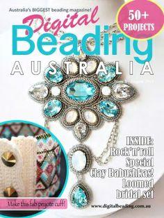 Latest Issue of Digital Beading (Australia) Magazine Jewelry Tools, Jewelry Crafts, Jewelry Design, Jewelry Making, Magazine Beads, Magazine Crafts, Beaded Rings, Beaded Jewelry, Handmade Jewelry