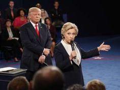 """Image copyright                  AP                  Image caption                                      Clinton y Trump volvieron a verse las caras en San Luis.                                """"Deberías ir a la cárcel"""", le llegó a decir Donald Trump a Hillary Clinton en uno de los momentos más calientes del segundo debate presidencial en Estados Uni"""