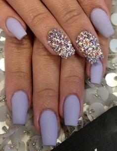Diamond matte nails