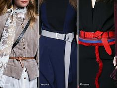 Fall/ Winter 2016-2017 Accessory Trends: Skinny Knotted Belts