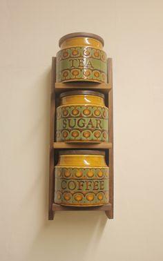 Hornsea Pottery Bronte Stacking Storage Jar Shelf