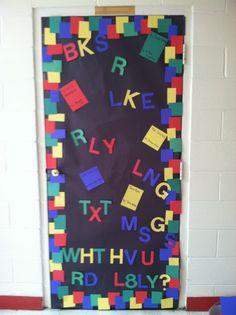High School English Classroom Door