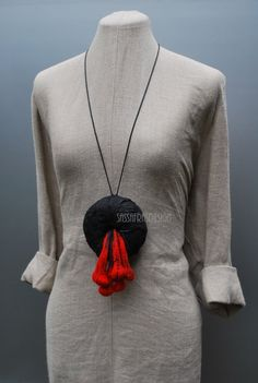 Extraordinary hand felted necklace wearable art