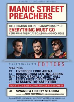 MANIC STREET PREACHERS Announce More Dates For 'Everything Must Go' 20th Anniversary TourWithGuitars