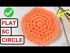 (497) CROCHET a FLAT CIRCLE with SINGLE CROCHET Every Time - YouTube