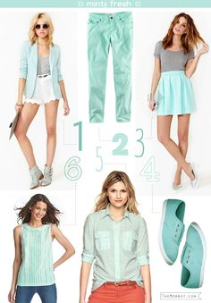 Spring fashion trend 2013: mint green   I love this color!!