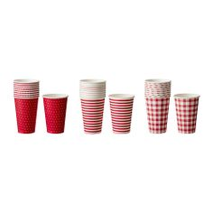 Ikea: SNÖFINT paper cups, 10 for 99 cents! Yikes, may have to go to Ikea in December!  I hate the crowds.