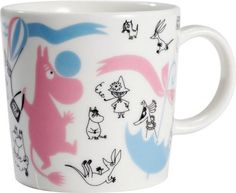 Arabia Finland Moomin Mug 'Stockmann 150 Edited Collection nro Moomin Mugs, Home Goods Furniture, Tove Jansson, Moomin Valley, Pastel Candy, Christmas Stocking Fillers, Dear Santa, Candy Colors, Tea Pots