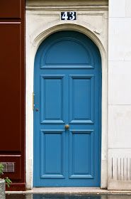 Blue front door colors feng shui Ideas for 2019 Cottage Front Doors, House Front Porch, Beautiful Front Doors, Black Front Doors, House Doors, Cottage Door, Front Door Paint Colors, Painted Front Doors, Front Door Design