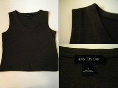 "Ann Taylor Size: S 100% SILK chocolate brown, v-neck, knit sleeveless tank $13 - Find it by going to www.LoyalRoyaltyPro.com, click on the ""Miss Anthropy's Boutique"" link on the left sidebar and click on one of the hyperlinks that say ""Miss Anthropy's Boutique"" to be taken to all of my eBay auctions including the one below! Don't forget to check out the other content on www.LoyalRoyaltyPro.com as well!"