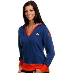 Pro Line Denver Broncos Women's Pullover Fleece Top