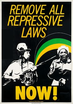 Anti-Apartheid Movement poster which was spread around Britain and South Africa during the Anti-Apartheid Movement.