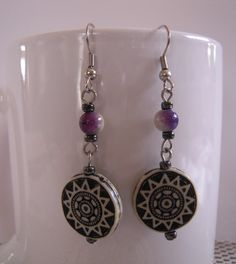 Purple Celestial Drop Earrings