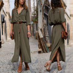 Maxi Dress Evening Party Beach Dress Casual - # Source by casual dress outfit Look Fashion, Fashion Models, Fashion Outfits, French Fashion, Mens Fashion, Fashion Tips, Fashion Design, Oversize Mantel, Casual Dress Outfits