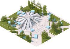 MVRDV breaks ground on pyramid of tirana adaptive reuse project Adaptive Reuse, Architecture, Arquitetura, Architecture Illustrations, Architecture Design, Architects