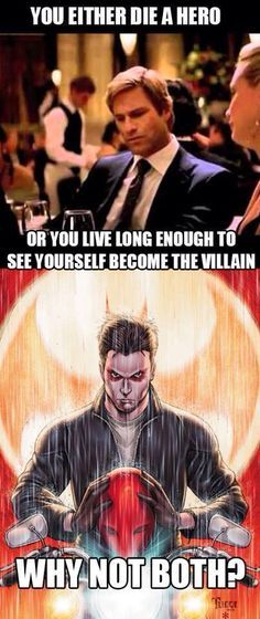 More like antihero but whatever