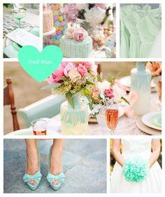 Fresh Mint wedding mood board