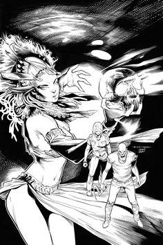 Aspen Comics - Santeria Talent Hunt - Ink by Raffaele Semeraro