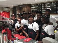 Happy, friendly staff on hand to serve you.