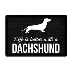 Life is Better with a Dachshund Black Bathroom Floor Mat Anti Slip Bedroom Doormat Mini Carpet Rug for Living Room  Price: 15.96 & FREE Shipping  #doglover #lovepets #petowners #catlovers