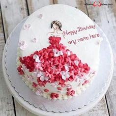 Happy Birthday Cake Pictures, Birthday Wishes Cake, Happy Birthday Cakes, Write Name On Cake, Cake Name, Celebration Cakes, Birthday Celebration, Best Birthday Quotes, Personalized Cakes