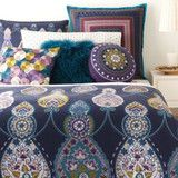 Swanky Outlet — Sky Bedding, Calixo Reversible Blue Boho Twin Duvet Cover and Sham Set