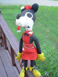 Early 1930 Stuffed Mickey Minnie Mouse Knickerbocker ?