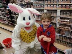 I think this person doesnt know how to put on an Easter Bunny costume. - Imgur
