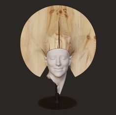 GEA, Cesar Orrico Sculpture. Wood and artificial stone.