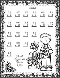 Spring Double Digit Multiplication With Regrouping, Two Digit Multiplication Two Digit Multiplication, Multiplication Strategies, Math Fractions, Math Worksheets, Teacher Resources, Math Numbers, Math For Kids, Elementary Math, Classroom Activities