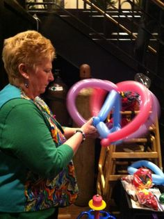Our balloon artist is here every Tuesday night crafting amazing animals and hats out of balloons.