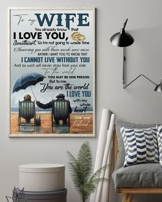 Perfect Gifts To My Husband Poster | Family Love Gifts