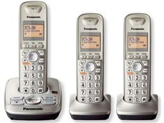 Panasonic KX-TG4223N DECT 6.0 High Quality Cordless Phone System with Answering, 3-Handsets