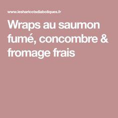 Wraps au saumon fumé, concombre & fromage frais