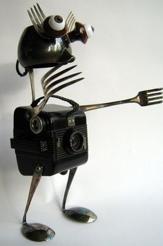 ROBOT Sculpture He takes a photo every day by BranMixArt, $85.00